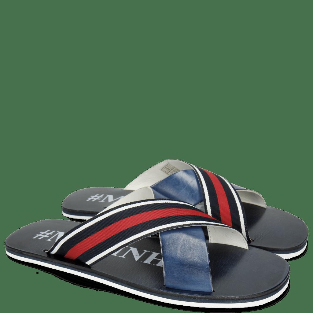 Sandals Sam 5 Marine Strap Red Blue