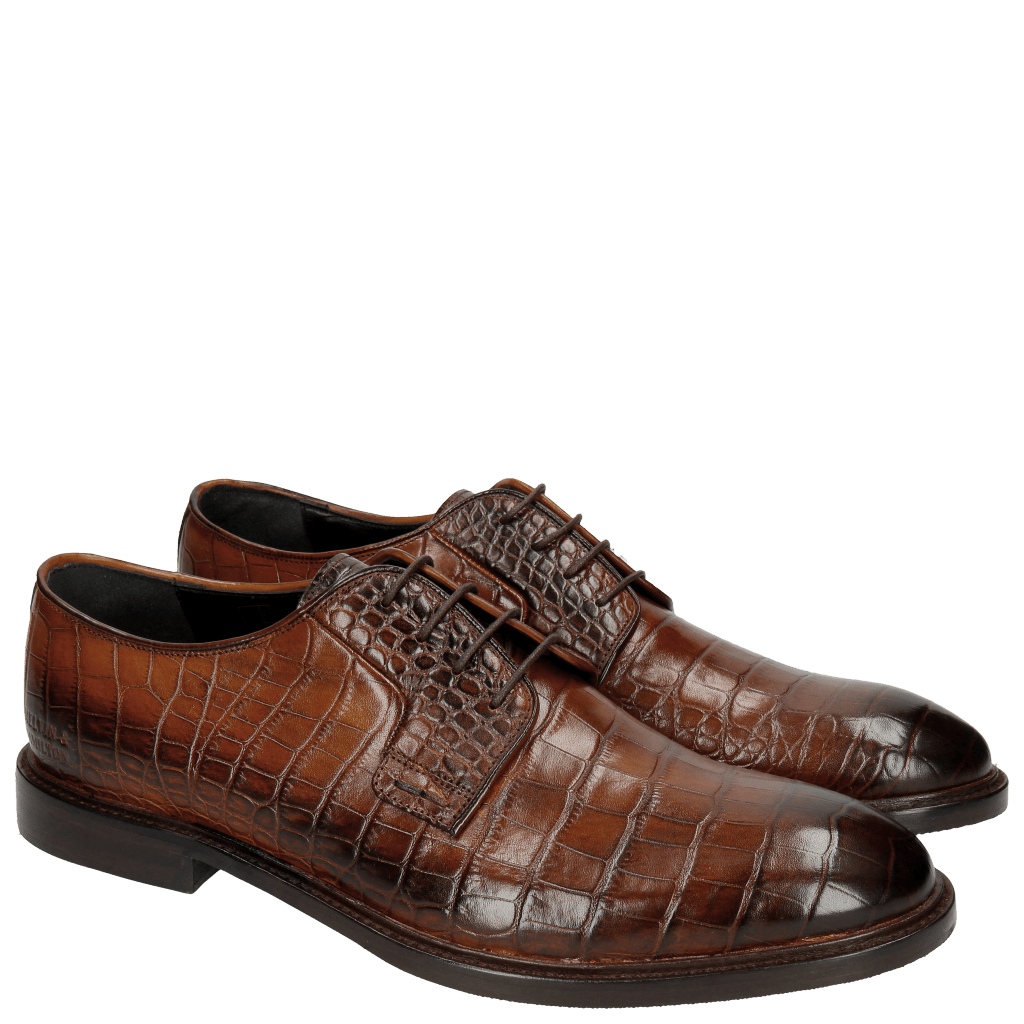 Derby shoes Matthew 1 Croco Wood HRS