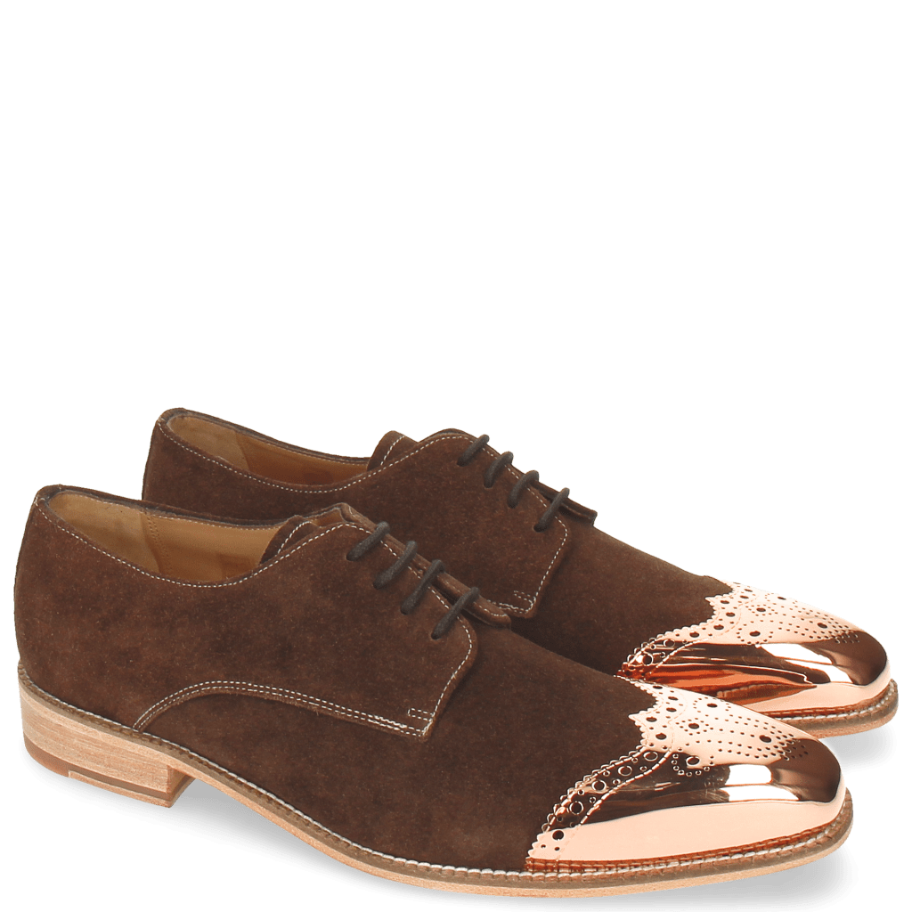 Derby shoes Lance 1 MTC Suede Pattini Dark Brown LS Raw