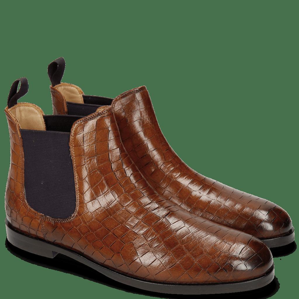 Ankle boots Susan 10A Crock Wood Elastic Purple