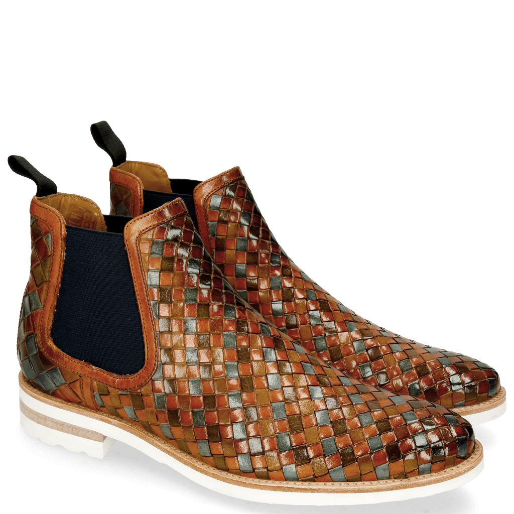 Ankle boots Brad 6 Woven Multi Elastic Navy
