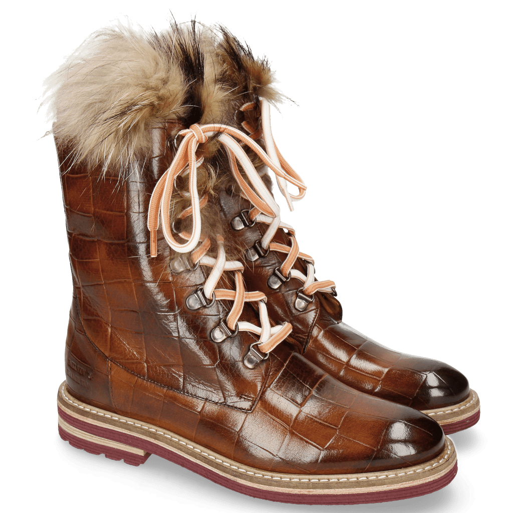 Ankle boots Amelie 81 Turtle Wood Tongue Fur Lionel
