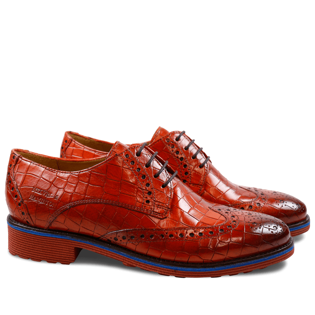 Derby shoes Amelie 3 Crock Orange Rook D Red EVA Blue