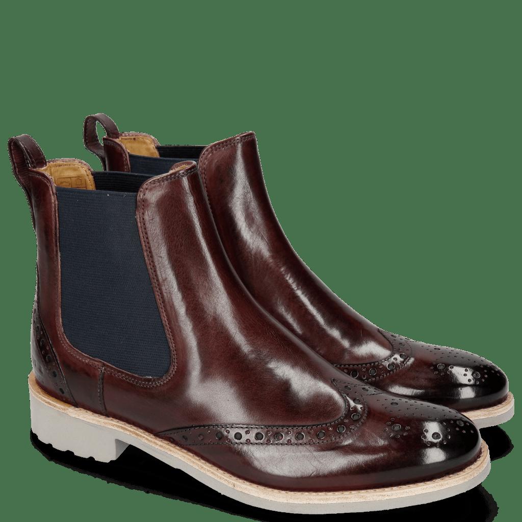 Ankle boots Amelie 5 Burgundy Elastic Navy