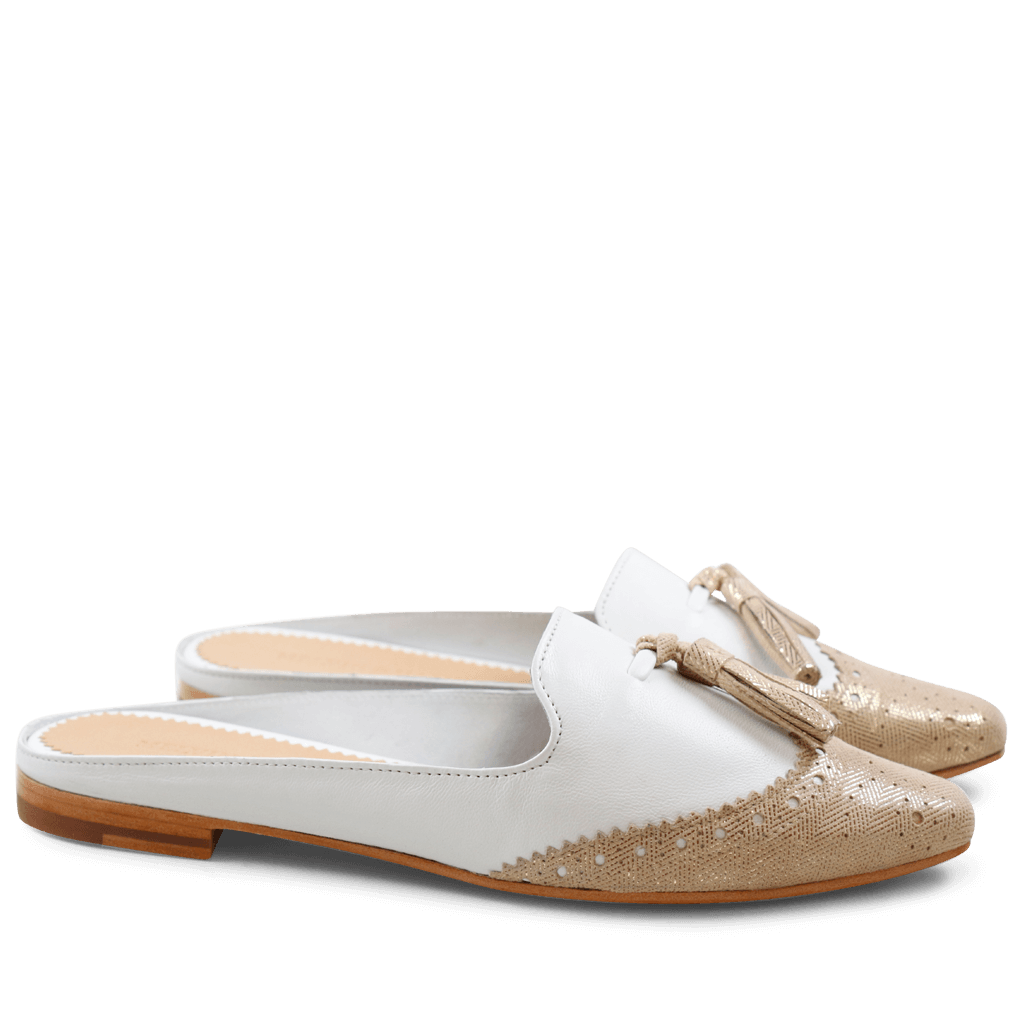 Mules Joolie 6 Java Metalic Sand Kid White LS Natural