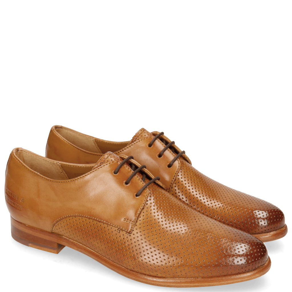 Derby shoes Selina 23 Perfo Tan