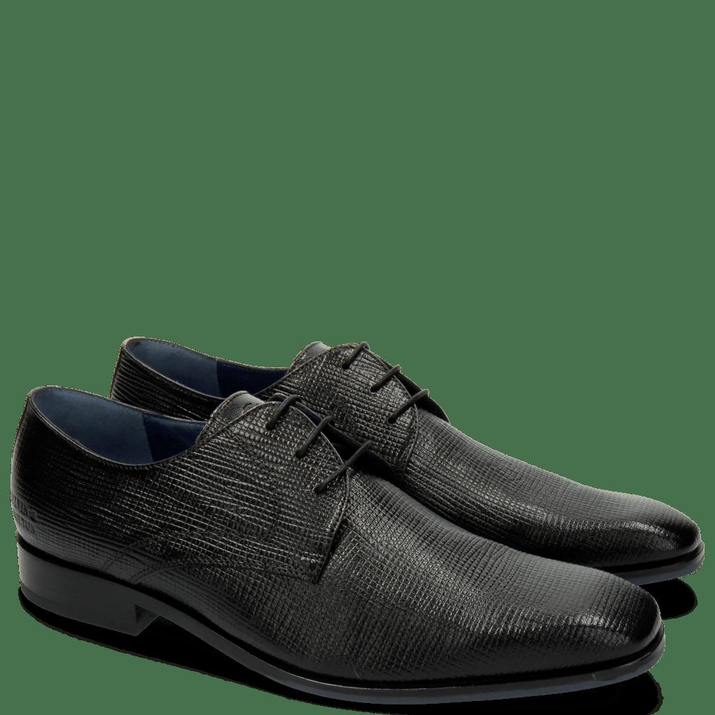 Derby shoes Rico 1 Venice Haina Print 316 Black
