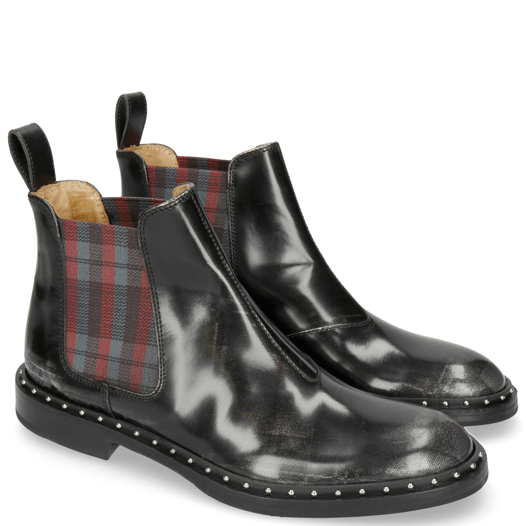 Ankle boots Sally 110 Brush Check Gunmetal