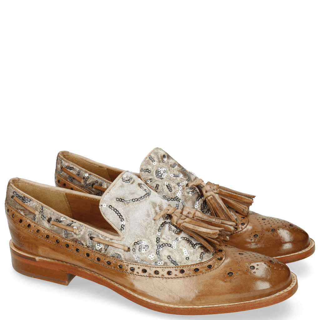 Loafers Amelie 60 Make Up Textile Zardosi Beige
