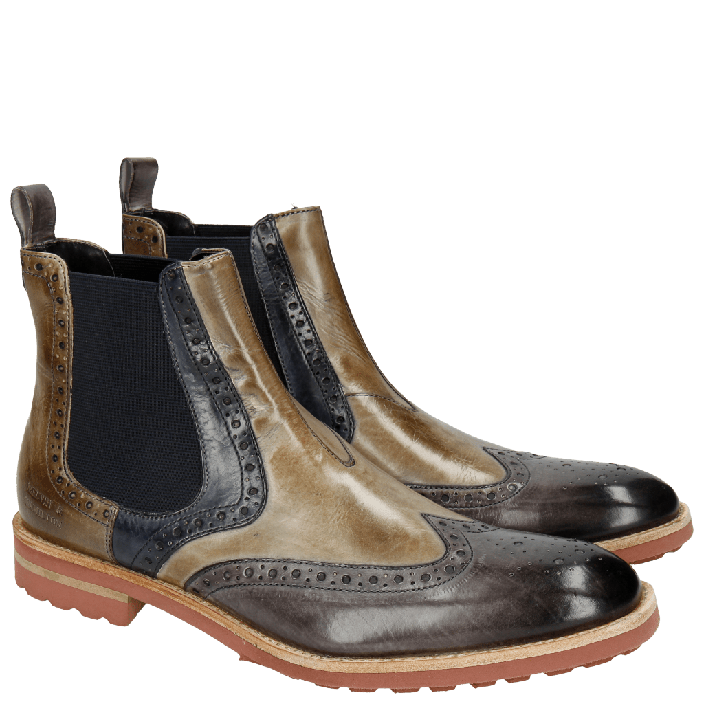 Ankle boots Eddy 13 Infant Stone Smog Navy Marble Elastic Navy