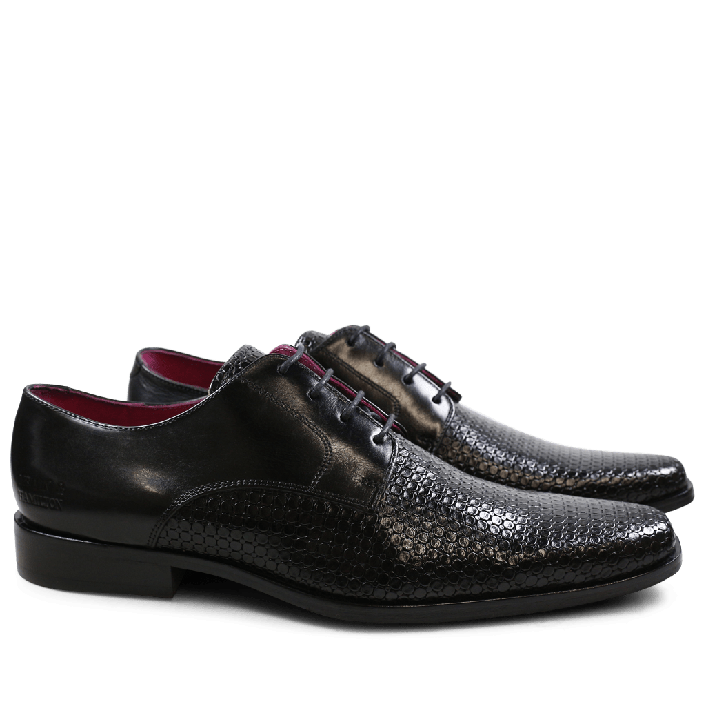 Derby shoes Mark 1 Bubble Ecocalf Black New HRS