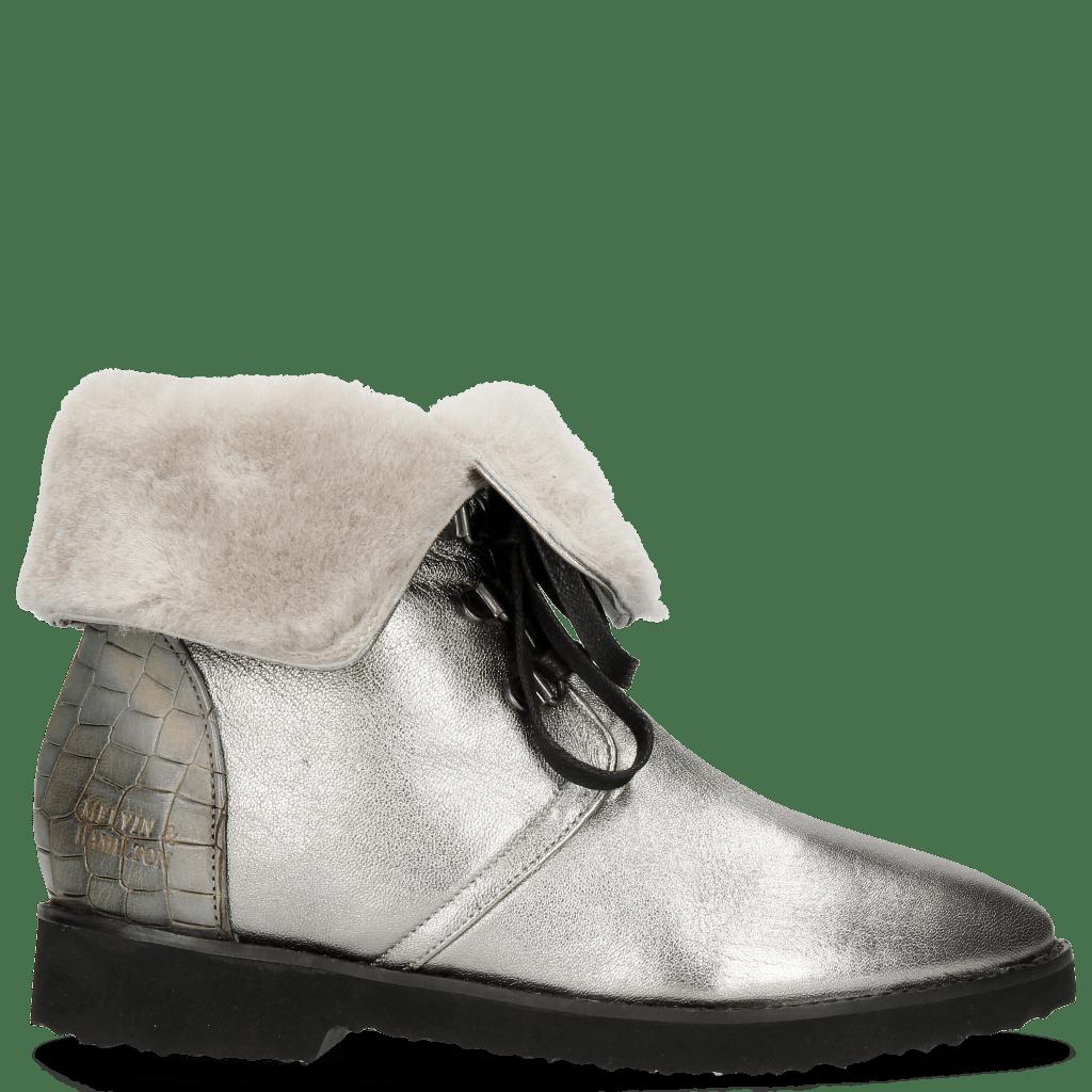 Ankle boots Greta 1 Talca Steel Crock Satelite Fondo Gunmetal
