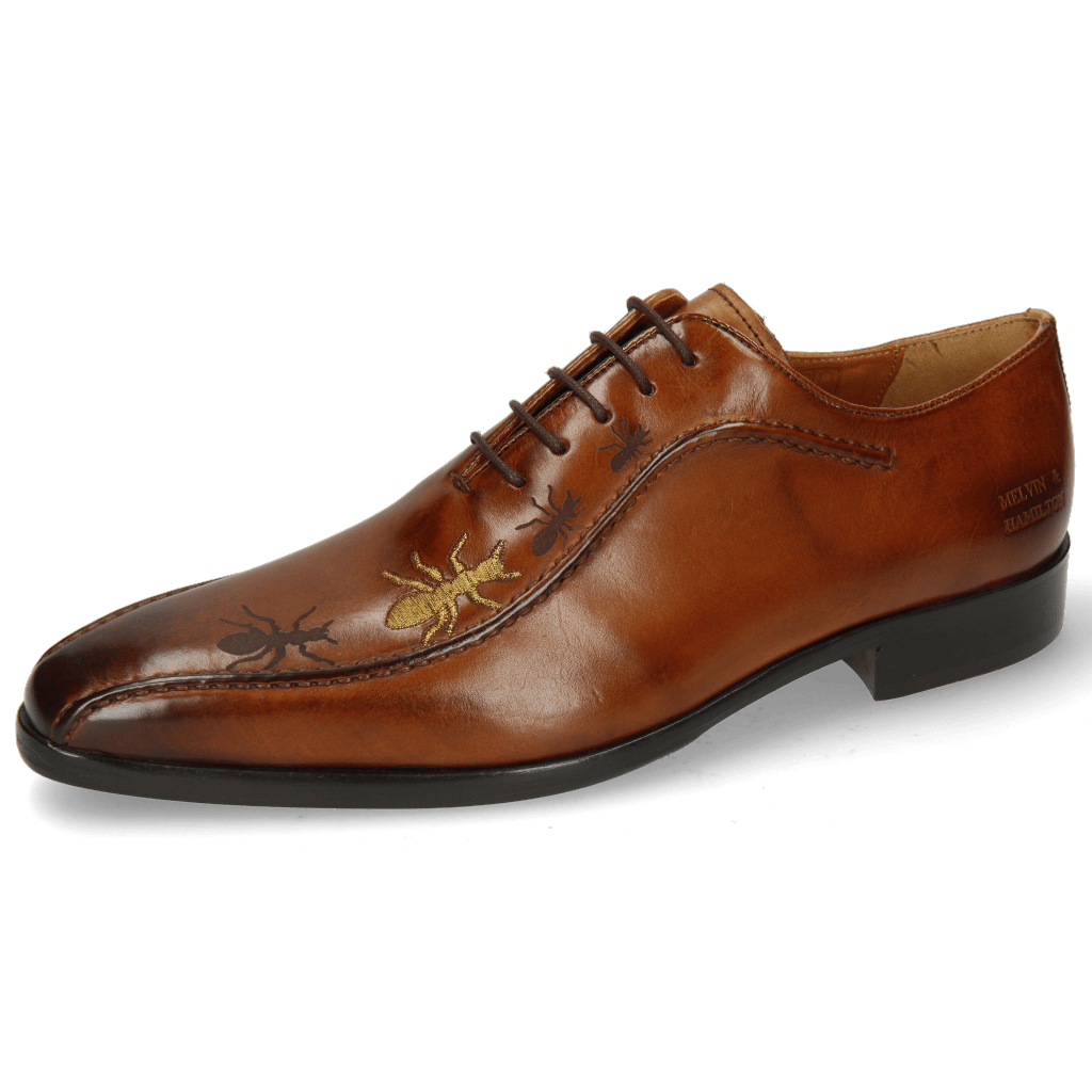 Oxford shoes Lewis 31 Wood Lasercut Ant Gold