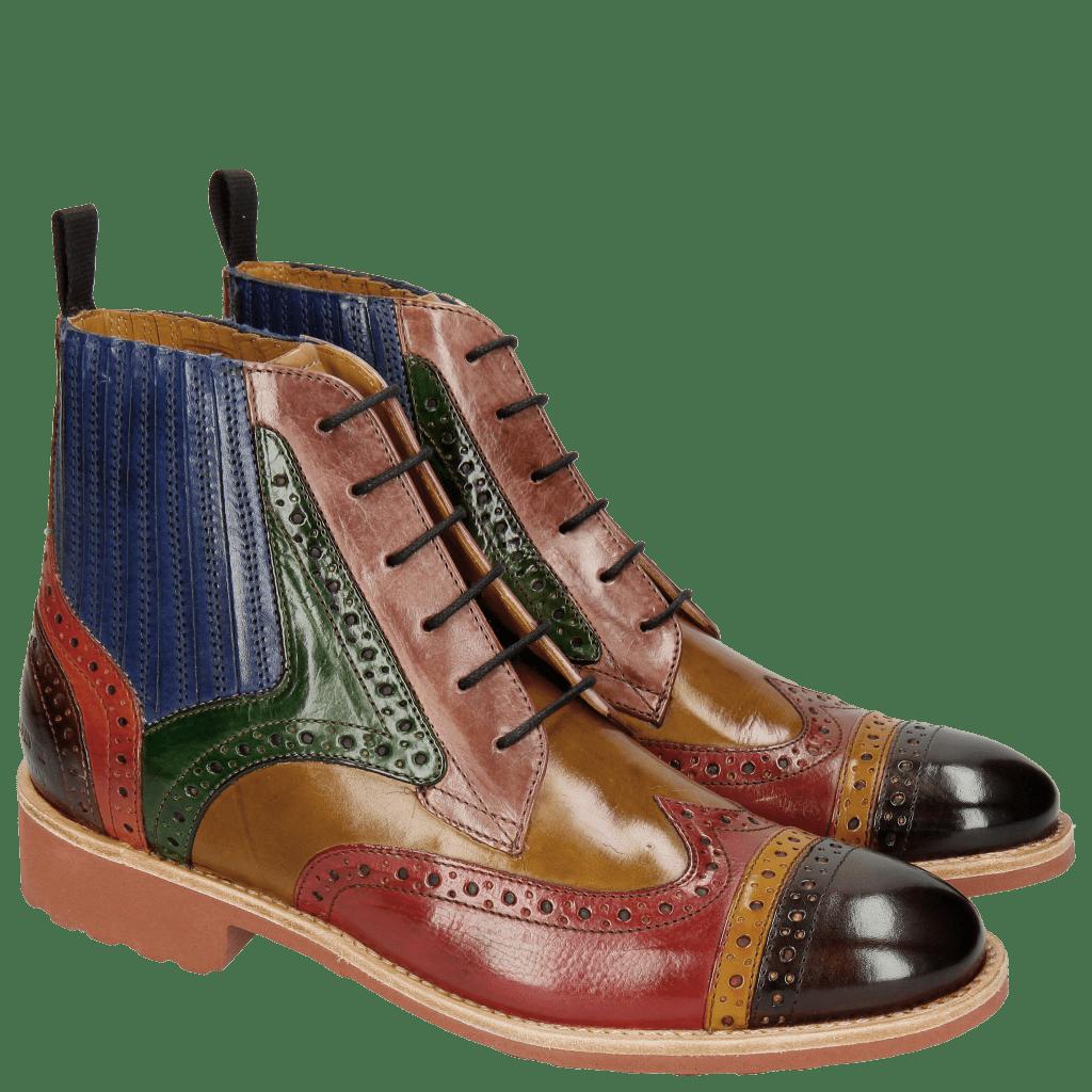 Ankle boots Amelie 17 Mogano Ocra Ruby Fango Light Purple