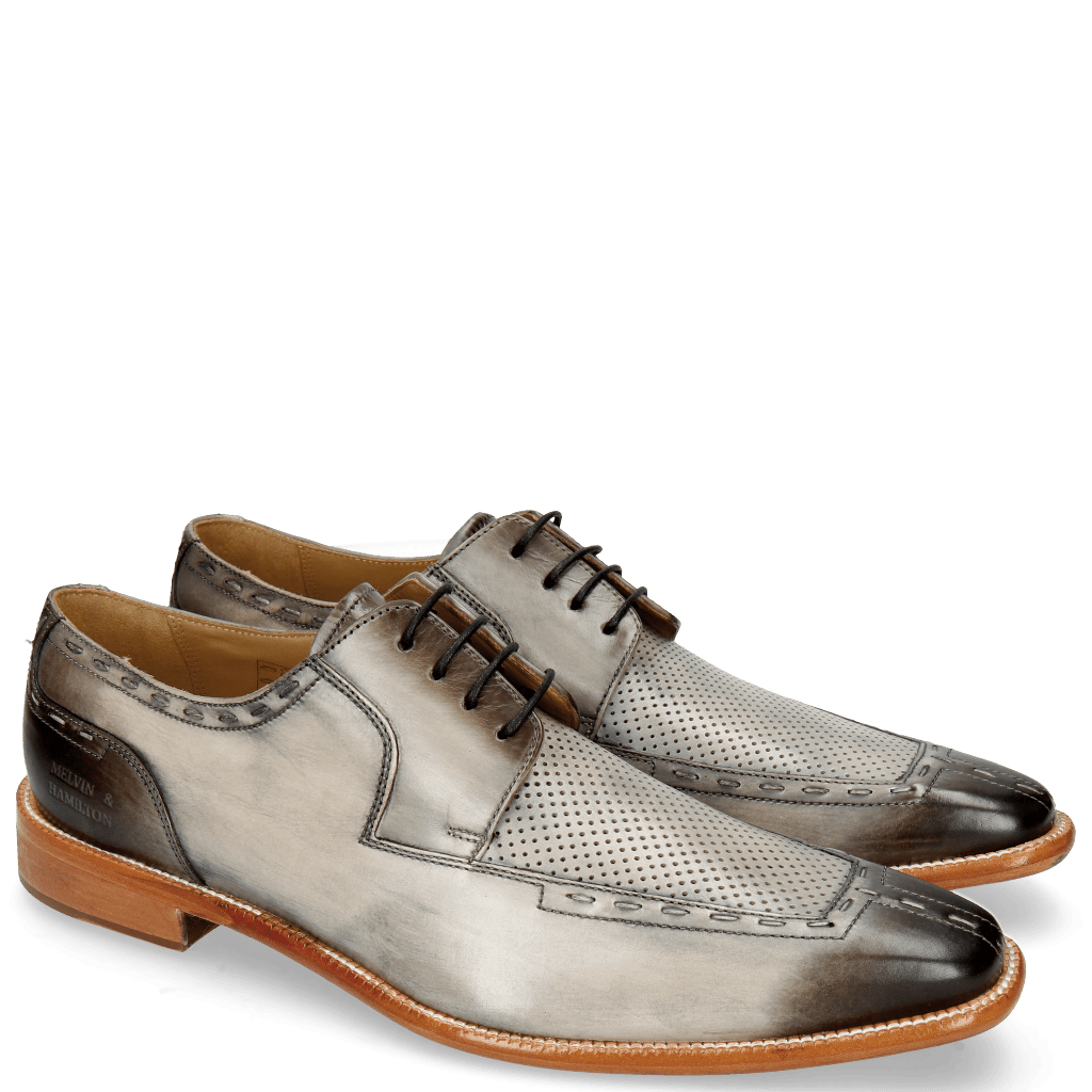 Derby shoes Roger 6 Grigio Perfo Sky Blue