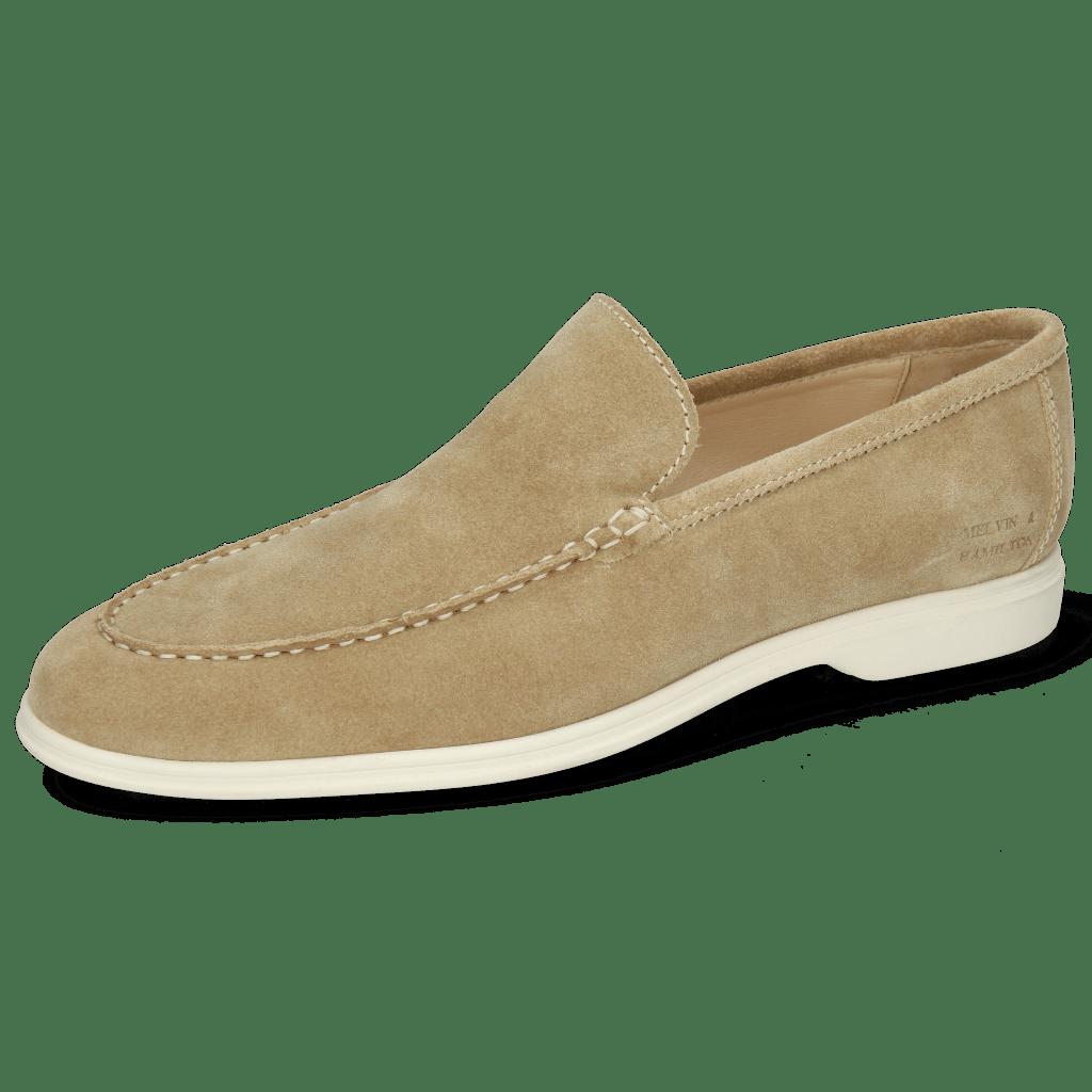 Loafers Earl 1 Suede Pattini Beige