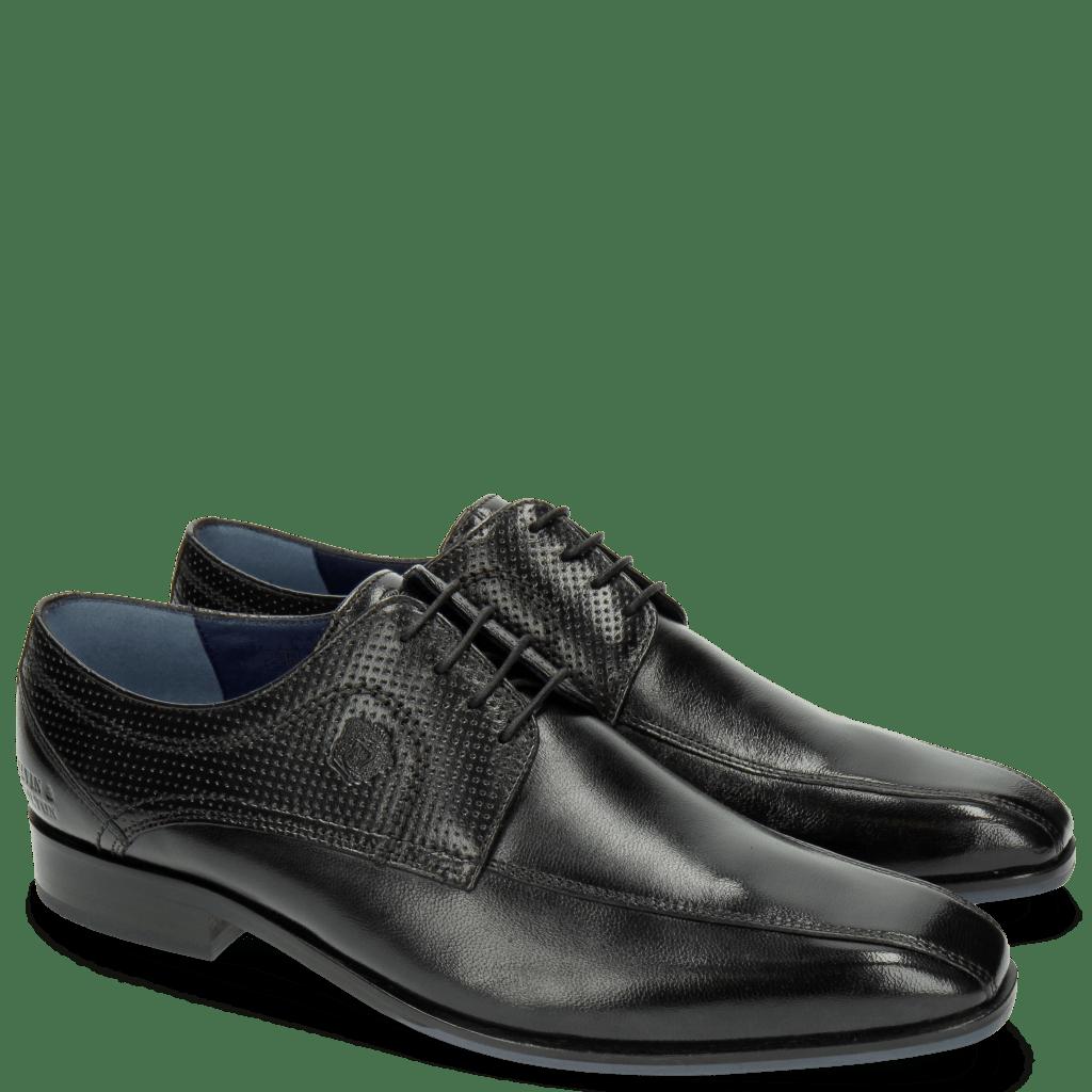 Derby shoes Rico 4 Rio Perfo Black