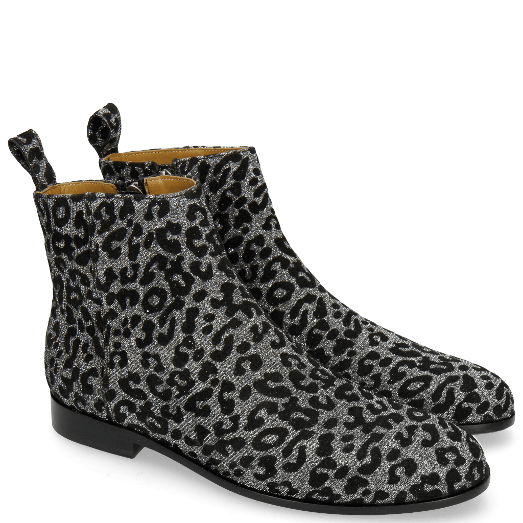 Ankle boots Susan 43 Leo Glitter Gunmetal