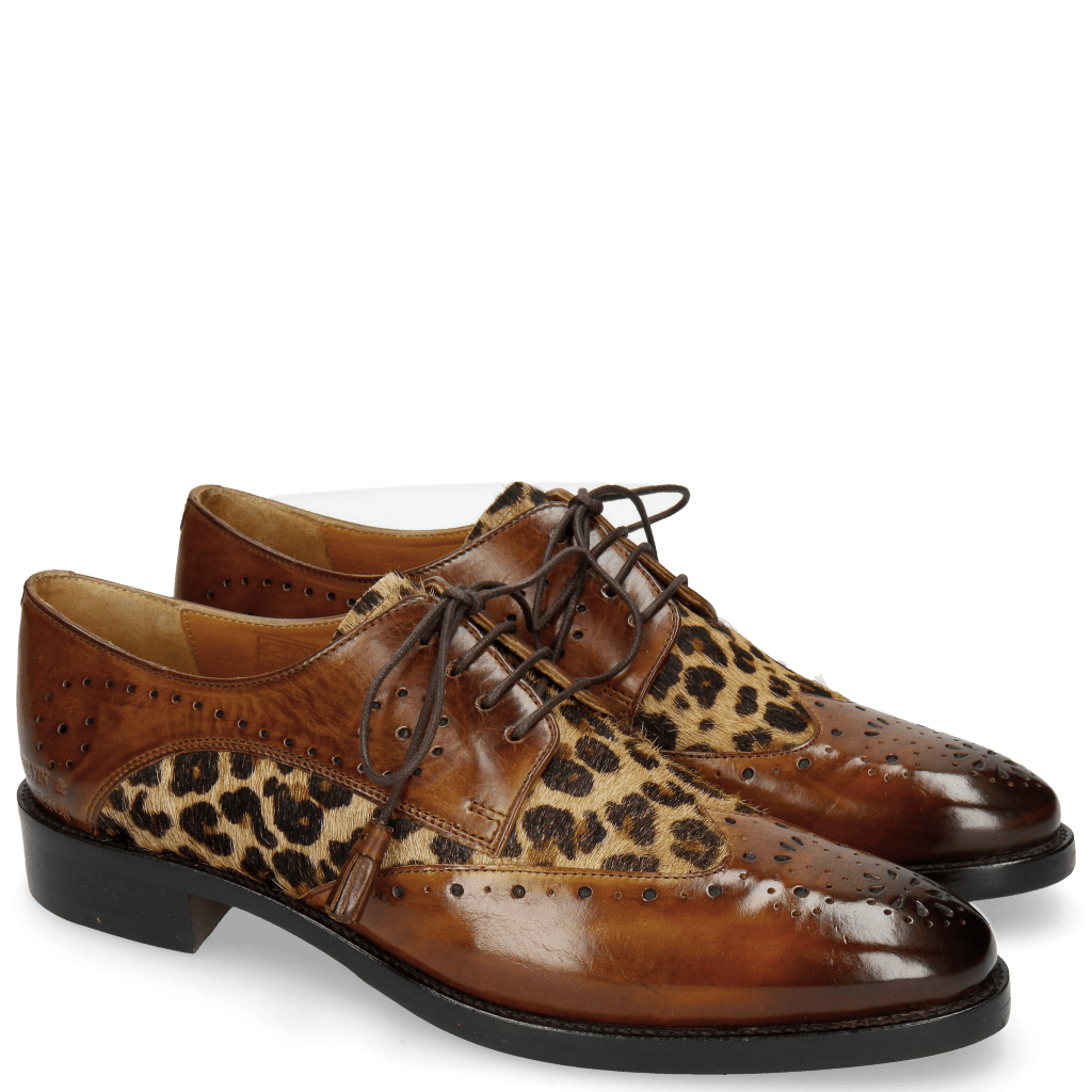 Derby shoes Betty 3 Wood Hairon Leo
