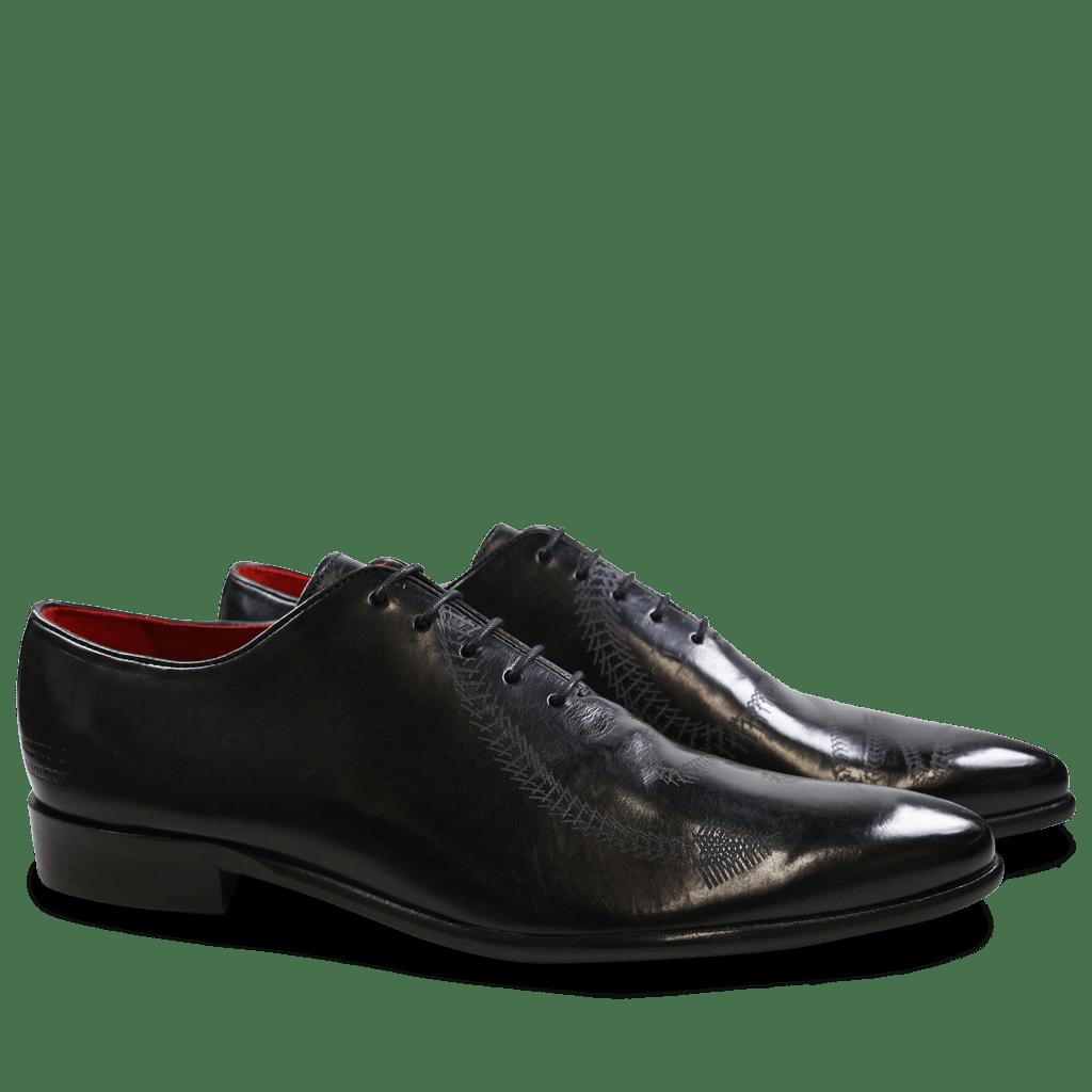 Oxford shoes Toni 26 Black Lasercut Snake