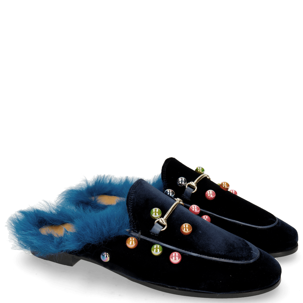 Mules Scarlett 4 Velluto Midnight Small Bubbles Multi