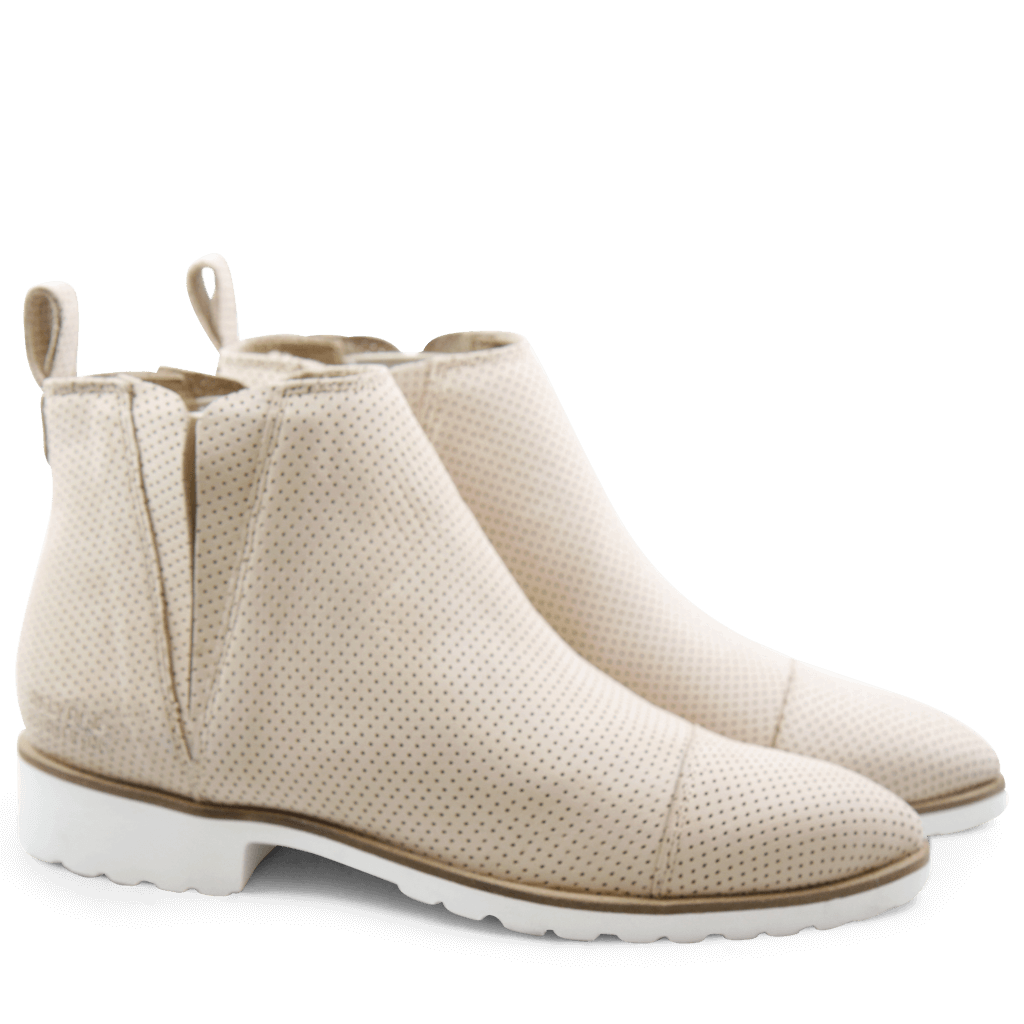 Ankle boots Jessy 8 Elko Perfo Beige Elastic Off White Rook D White
