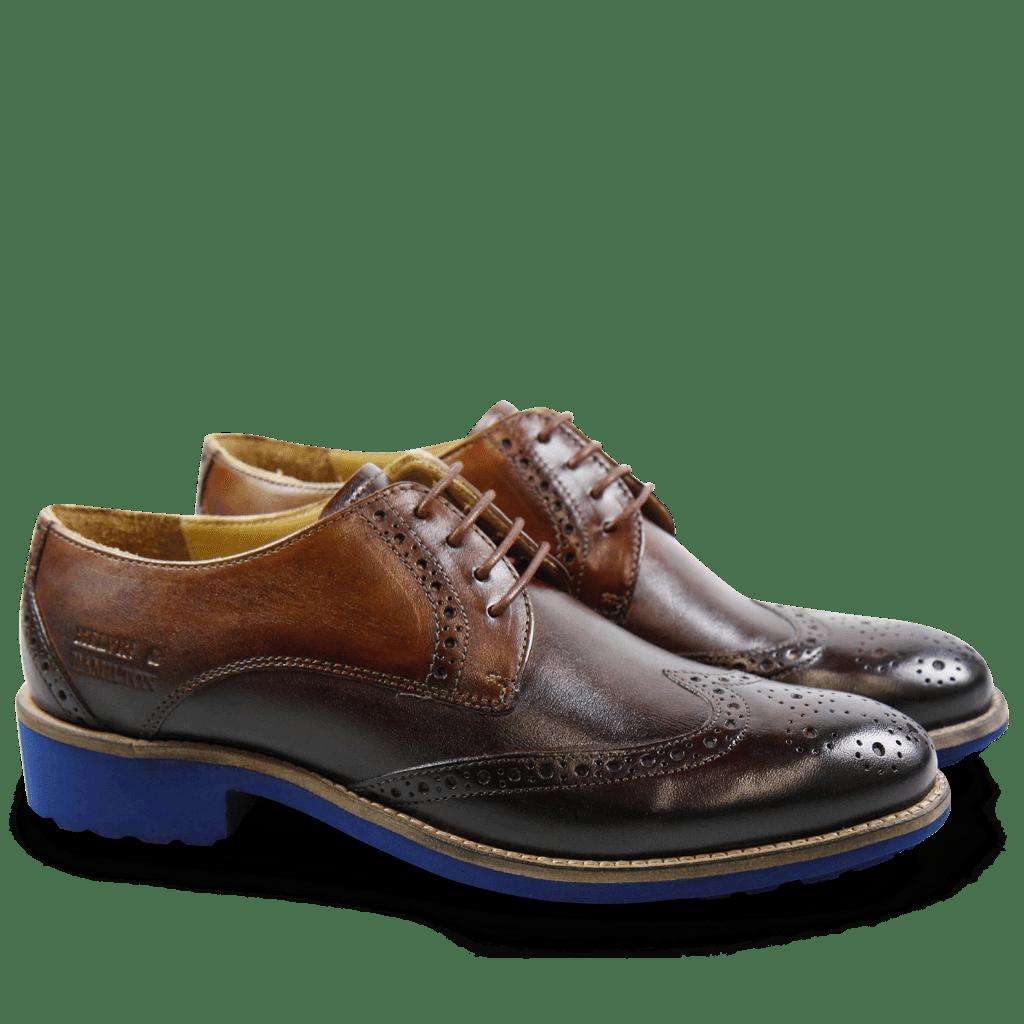 Derby shoes Amelie 3 Crust Tan Blue Finish WL Blue