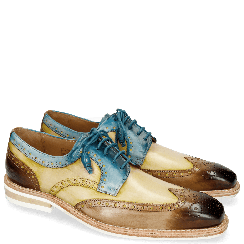 Derby shoes Marvin 1 Mid Brown Sol Bluette