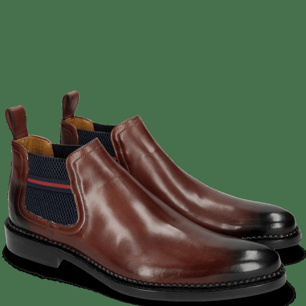 Ankle boots Erol 12 Mokka Toe Navy