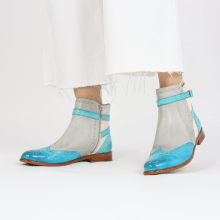 Ankle boots Selina 25 Vegas Turquoise Oxygen White Mermaid