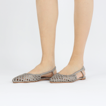 Sandals Alexa 27 Open Weave Pewter