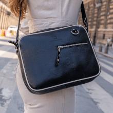 Handbags Quebec Prato Black Binding Flex Hairon