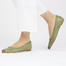 Ballet Pumps Lydia 3 Woven Scale Lawn Lining