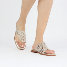 Mules Elodie 16 Mignon Open Woven Platin