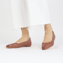 Ballet Pumps Lydia 3 Woven Scale Rose Lining