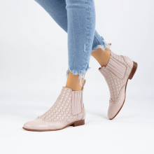 Ankle boots Sally 129 Nappa Glove Perfo Pink Salt