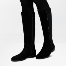 Boots Susan 31 Suede Black HS Beige Elastic Black HRS