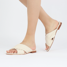 Mules Elodie 47 Nappa Off White Lining Foam