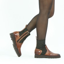 Ankle boots Sally 157 Crock Mid Brown Stefy Black Gold