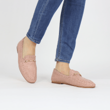 Loafers Aviana 1 Woven Lavanda Trim Gold