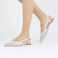 Sandals Alexa 27 Open Weave White