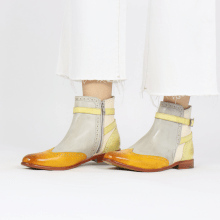 Ankle boots Selina 25 Vegas Yellow Digital White Margarine Strap
