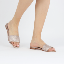 Mules Hanna 26 Woven Rose Gold