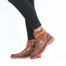 Ankle boots Selina 25 Imola Wood Strap Orange