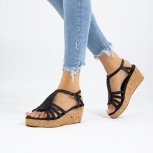 Sandals Hanna 55 Woven Black Cork