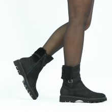 Ankle boots Sally 138 Como Black Fur