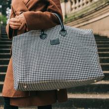 Travel Bags Duffy Tweed Black White