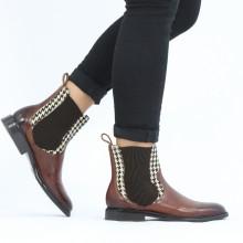 Ankle boots Sally 113 Imola Mid Brown Hairon Halftone Mogano