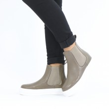 Ankle boots Fay 1 Nappa Glove Taupe Loops