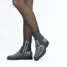 Ankle boots Sally 157 Crock London Fog Textile Stafy Black